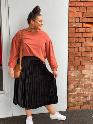 Load image into Gallery viewer, The Obella Skirt - Black