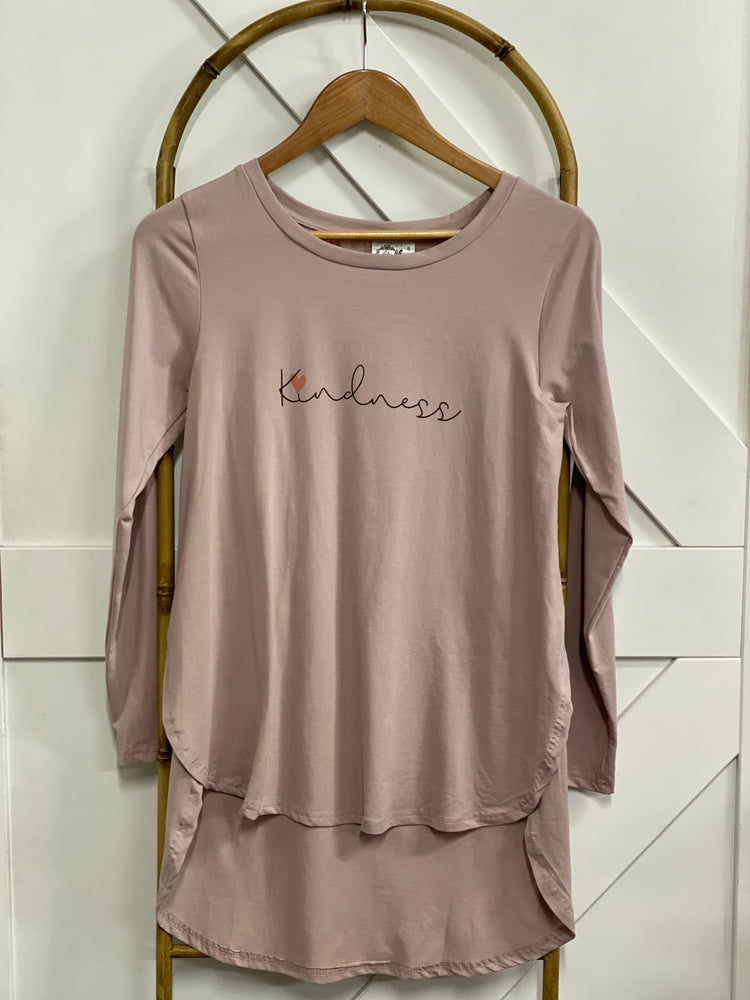 Kindness Long Sleeve Tee -  Dusty Rose