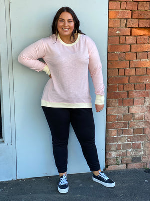 Brooklyn Sweater - Rose Quartz/Cream