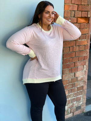 Load image into Gallery viewer, Brooklyn Sweater - Rose Quartz/Cream