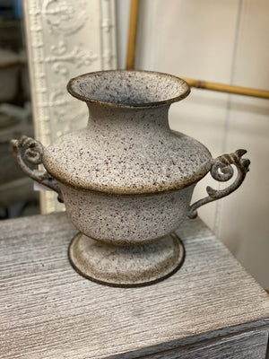 Weathered Vintage Squat Urn