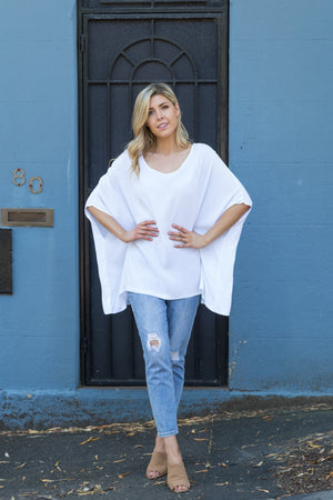 Drape Top - White