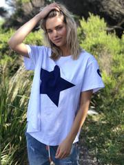 White - Navy Star