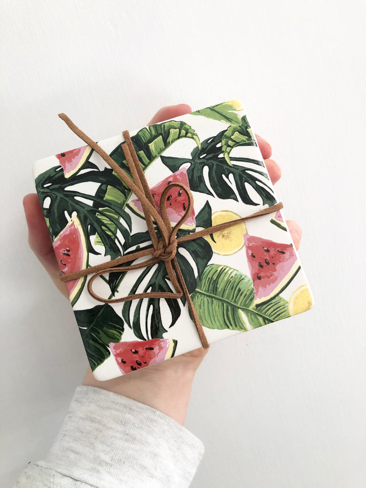 Load image into Gallery viewer, Ceramic Coasters Watermelon