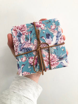Ceramic Coasters Blue Lily