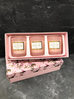 Scented Candle Set - Pink Floral