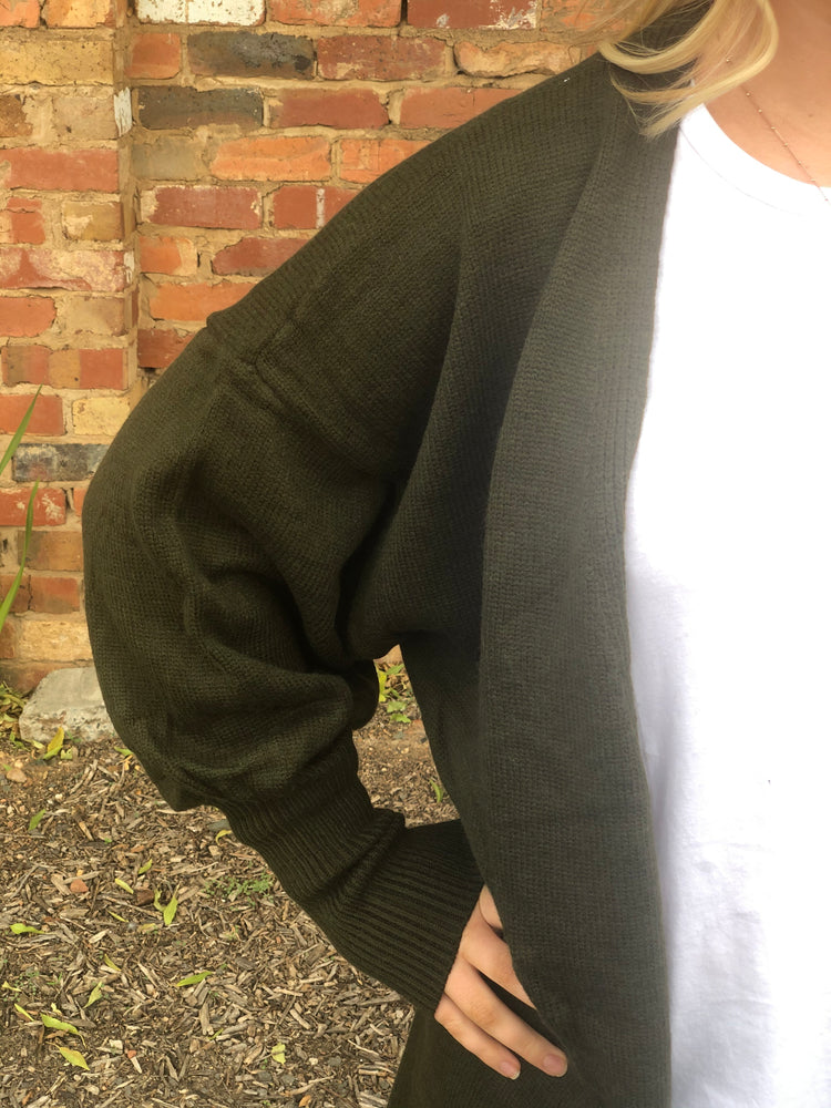 Load image into Gallery viewer, The Jade Cardigan - Olive