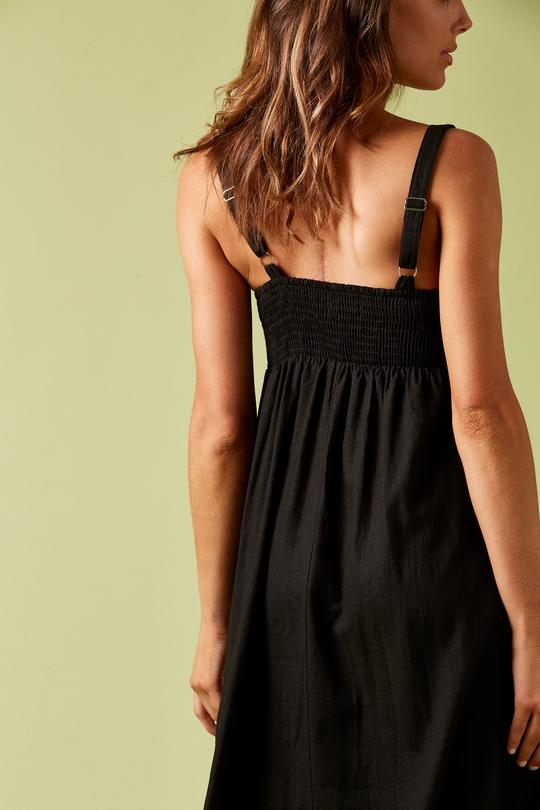 Ivy Palm Dress Black