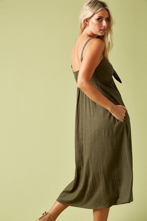 Load image into Gallery viewer, Ivy Palm Dress Khaki