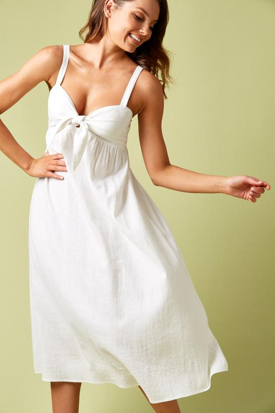 Ivy Palm Dress Salt