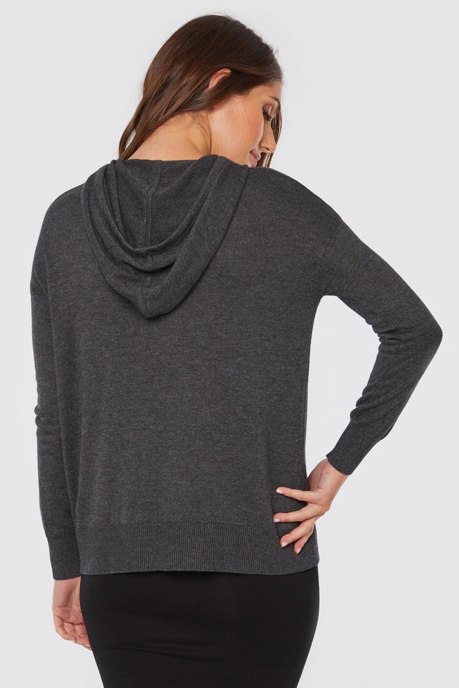 Load image into Gallery viewer, Bamboo & Wool Knit Hoodie