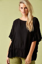 Marquis Frill Top Black One Size