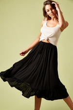 Marquis Maxi Skirt Black