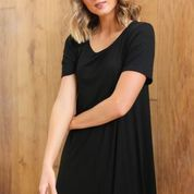 Swing Dress- Black