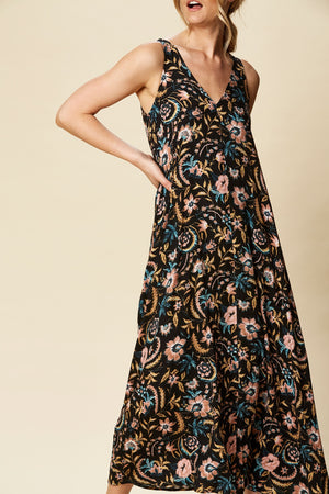 Load image into Gallery viewer, Ohana Maxi Black Botanical