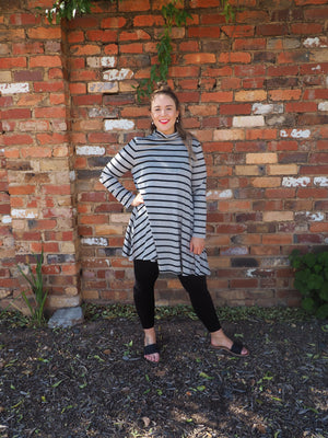 Load image into Gallery viewer, Marle Stripe Tunic Dress