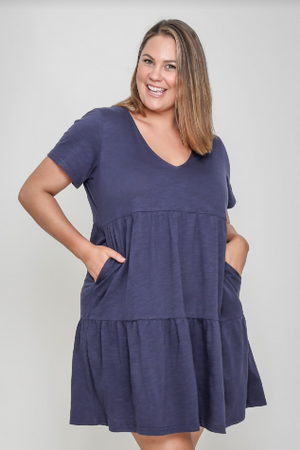 Load image into Gallery viewer, Pia Dress - Navy
