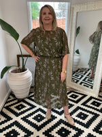 Clarissa Bell Sleeve Dress Olive Leaf