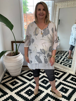 Load image into Gallery viewer, 2 Layer Printed Tunic