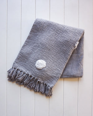 Load image into Gallery viewer, Belvidere Throw Blanket - Grey