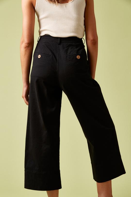 Load image into Gallery viewer, Vagabond Crop Black Pant