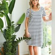Swing Dress- French Stripe