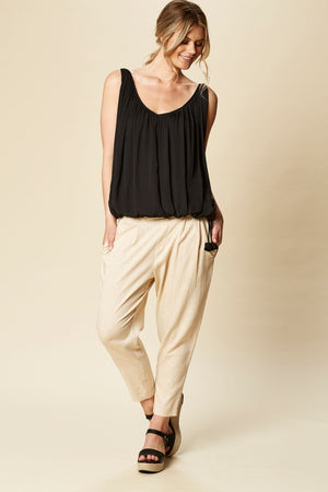 Zena Drawstring Top One Size