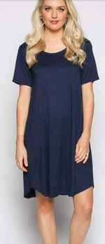 Swing Dress- Navy