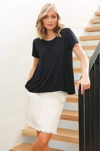 Swing Tee in Black