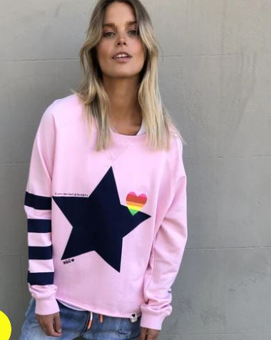 Load image into Gallery viewer, Retro Star Sweat - Pink
