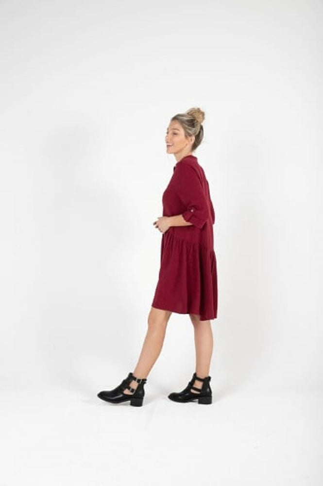 Load image into Gallery viewer, KoKo Shirt Dress - Berry