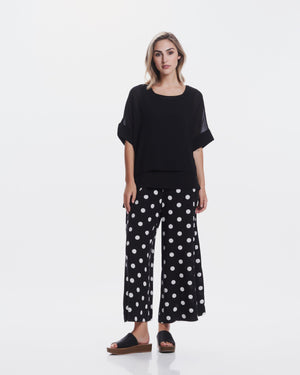 Faith Flared Culottes Polka Dots