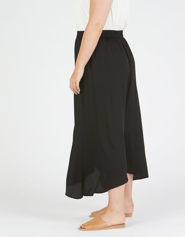 Dipped Culotte Black