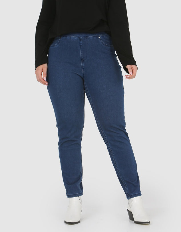 Carmen Pull On Jeans Blue