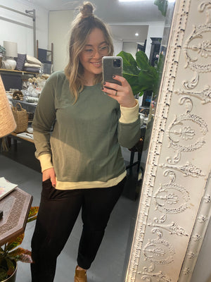 Load image into Gallery viewer, Brooklyn Sweater - Khaki/Cream