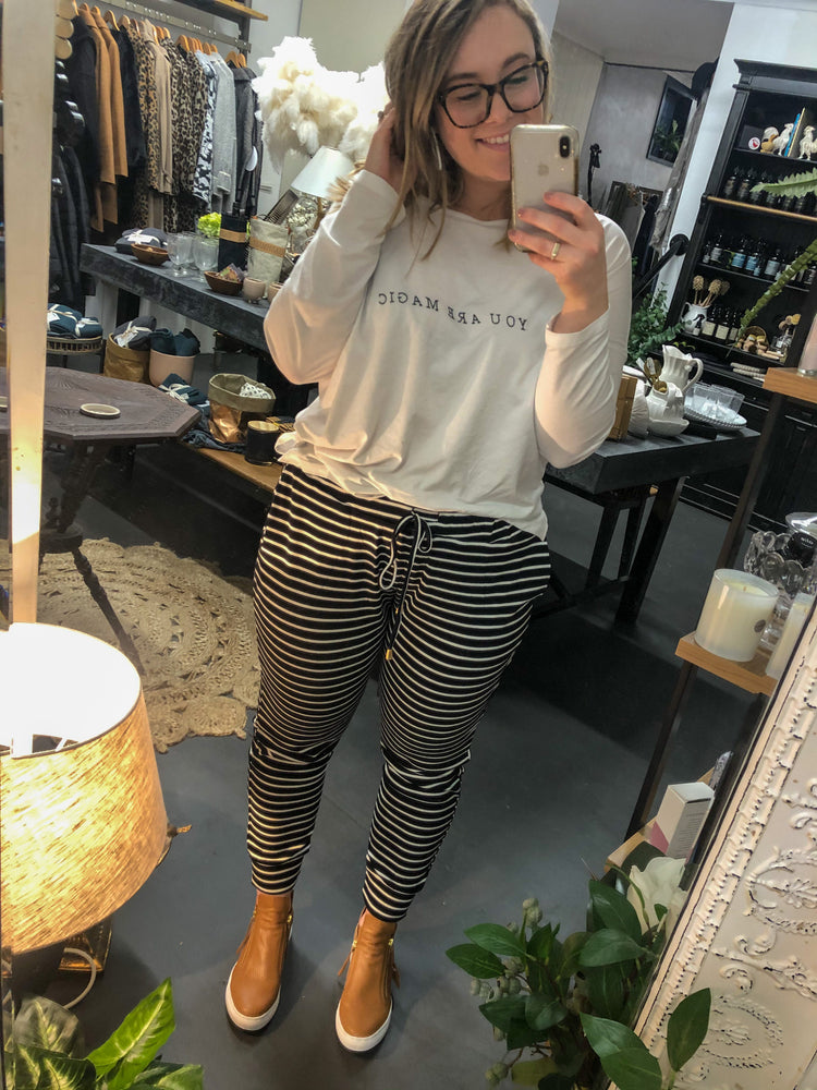Mia Winter Trackies - Stripe