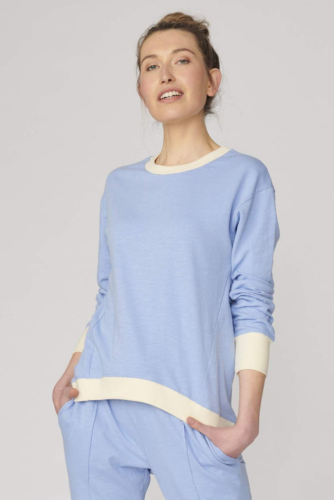 Brooklyn Sweater - Robot Blue/Cream