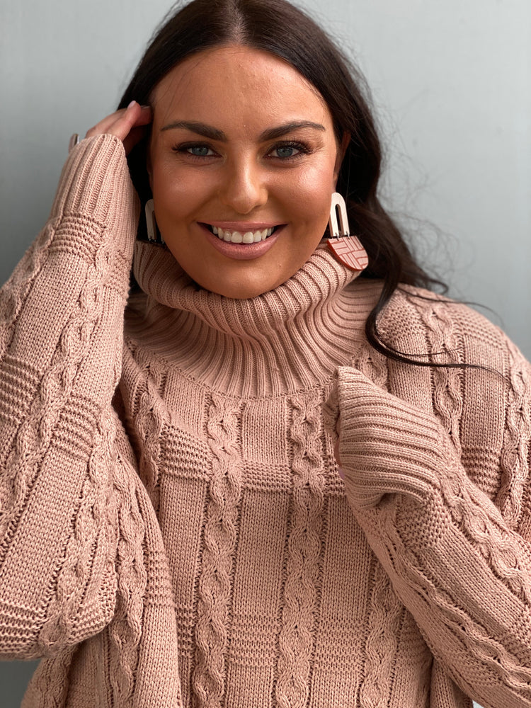 Load image into Gallery viewer, Nadya Knit Jumper - Blush