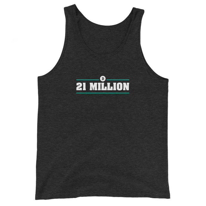 21 MILLION Unisex Bitcoin Tank Top - moeda-rags