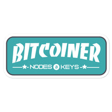 Load image into Gallery viewer, BITCOINER -MOEDA GREEN - Bitcoin Bubble-free stickers - moeda-rags