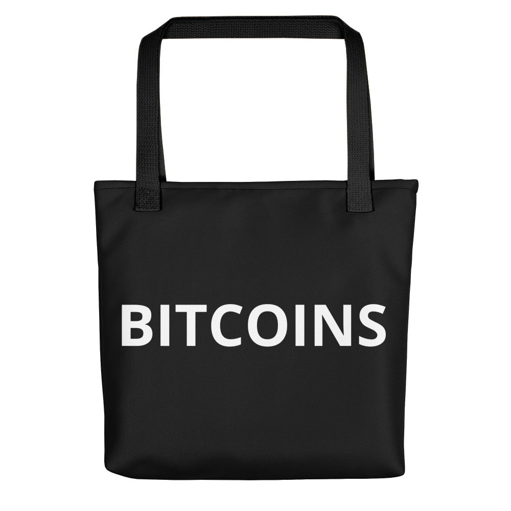 BITCOINS Tote bag - moeda-rags