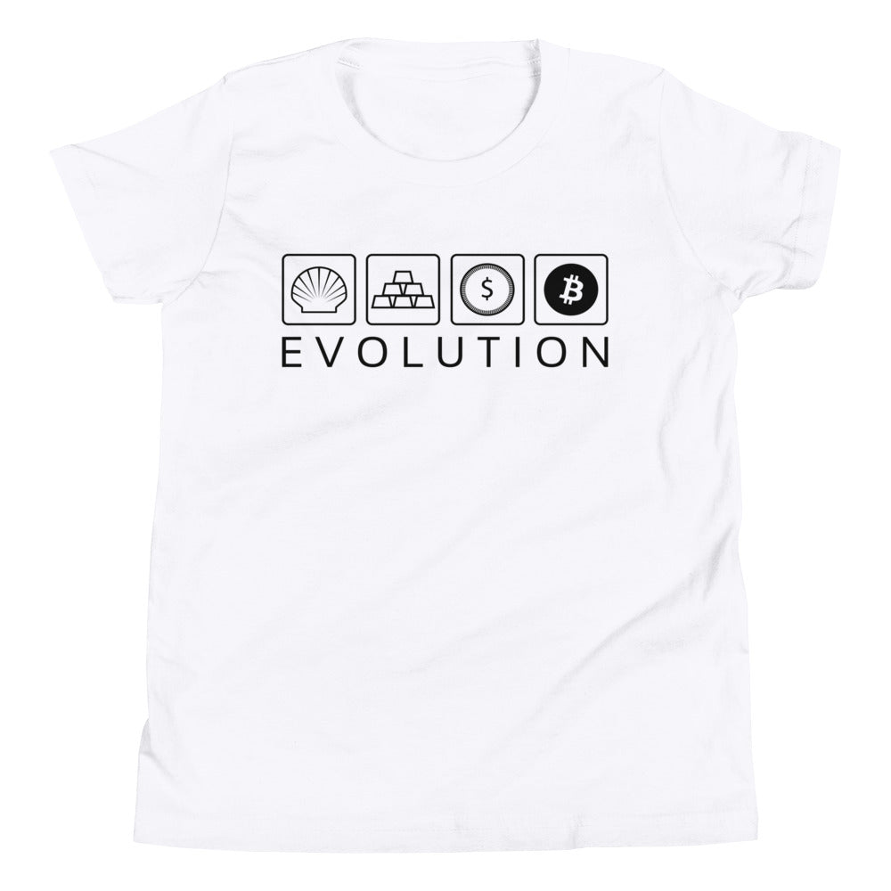 EVOLUTION Youth Short Sleeve T-Shirt - moeda-rags