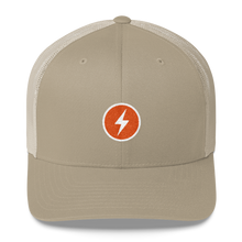 Load image into Gallery viewer, LIGHTNING NETWORK BADGE Bitcoin Trucker Cap - moeda-rags