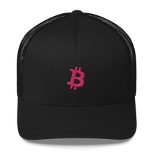 Load image into Gallery viewer, Bitcoin 'B' PINK Trucker Cap - moeda-rags