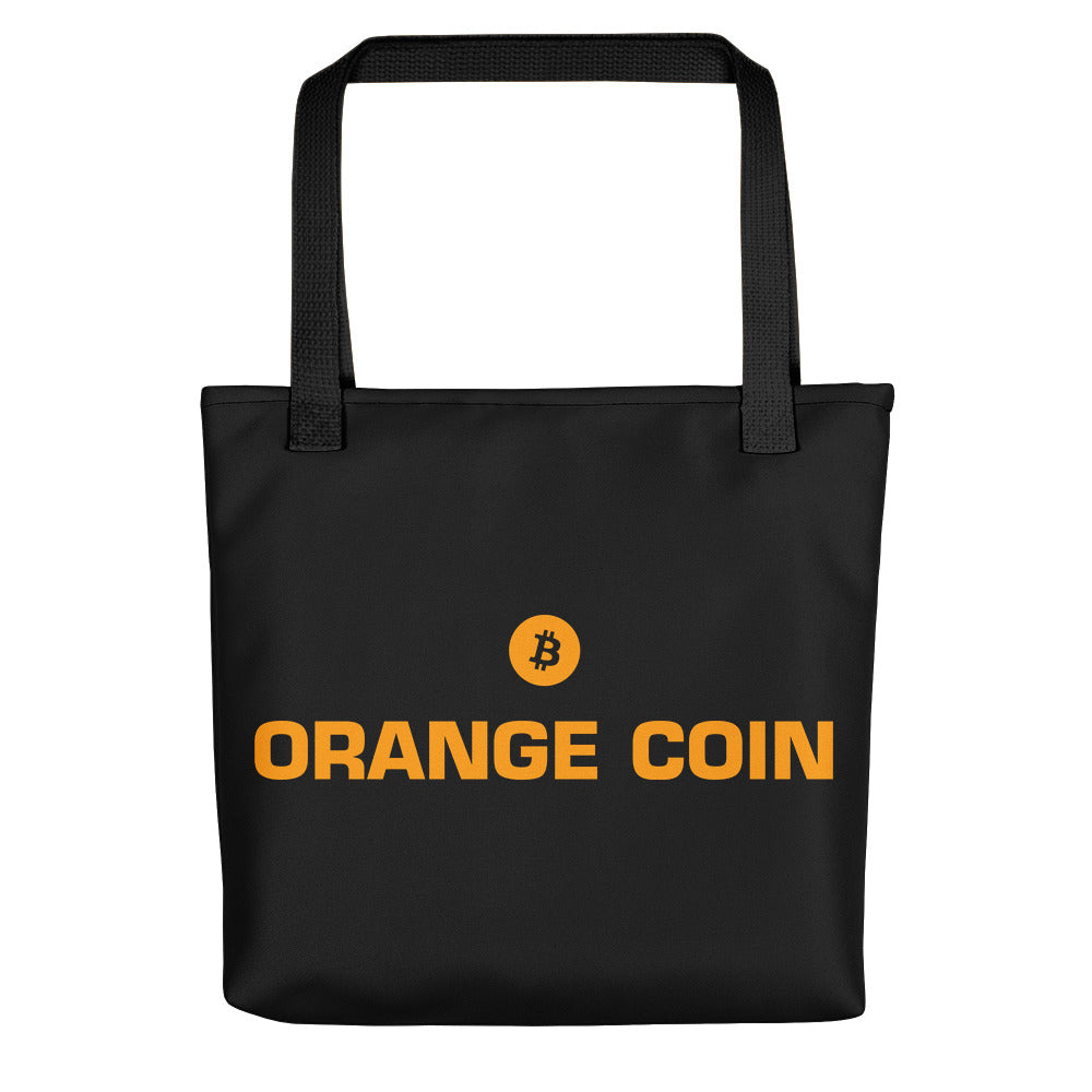ORANGE COIN Tote bag - moeda-rags