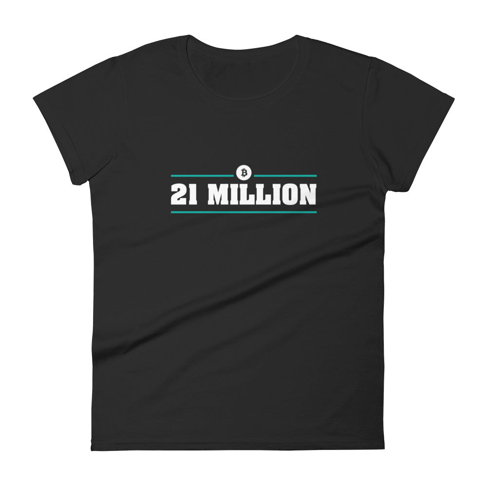 21 MILLION Women's short sleeve Bitcoin t-shirt - moeda-rags