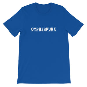 CYPHERPUNK SIMPLE Short-Sleeve Unisex T-Shirt - moeda-rags