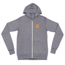 Load image into Gallery viewer, BITCOIN 'B' Unisex zip hoodie