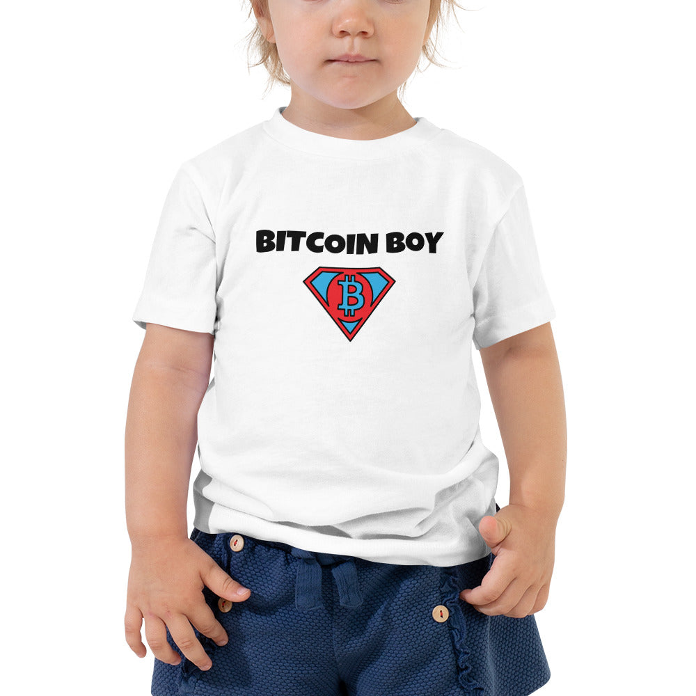 BITCOIN BOY Toddler Short Sleeve T-Shirt - moeda-rags