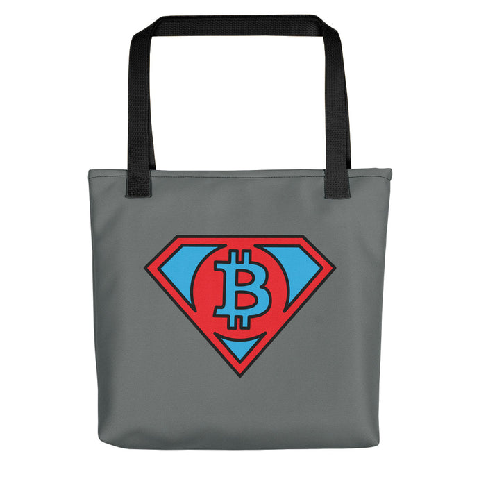 MAN OF BITCOIN Tote bag - moeda-rags